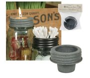 Mason Jar Rustic Tapered Cup Lid Attachment Accessory