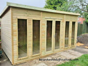 Summer House Shed Garden Office Log Cabin Man Cave Treated Lead Time 10-14 Weeks