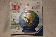 New 3d Puzzle By Ravensburger Age 6-99 73 Piece World Globe Puzzle Item 11 840 3
