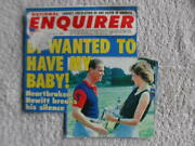 Princess Diana English Crown Royalty National Enquirer Usa Newspaper Clippings