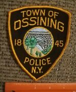 Town Of Ossining Police New York Embroidered Sew On Shoulder Patch New Ny