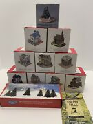Lot Set Of 10 Liberty Falls The Americana Collection With Original Boxes + Mini