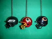 Nfl Helmet Ceiling Fan / Light Pull Chain Set. Pick Your Team And Chain Color