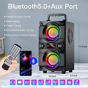 60w 80w Peak Portable Bluetooth Speaker With Double Subwoofer Heavy Bass