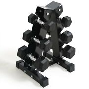 Iron Fit Gear Hex Dumbbells Weights 5kg 7.5kg 10kg Pairs With Storage Rack Stand
