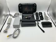 Nintendo Wii U Wup-101 32gb Console Gamepad Remote Cords Charging Dock