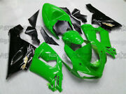 Injection Body Kit Fairing Fit For Ninja 636 Zx-6r 2005-2006 Green Black New Abd