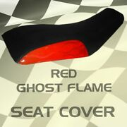 Yamaha Yfm 660 Grizzly 02-03 Red Ghost Flame Seat Cover Mgh1232sc1211