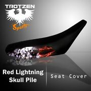 Yamaha Grizzly 660 02-03 Red Lightning Skull Pile Seat Cover Tts2163sep2163