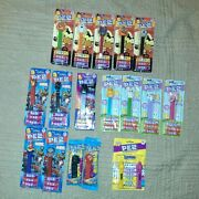 Lot Pez Candy Dispensers New On Card Marvel Halloween Easter Peeps Lot Of 17