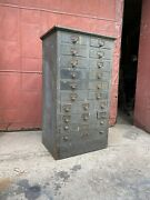 1900s Hardware Apothecary Cabinet Country Industrial Farmhouse Office Jewelry