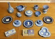 Vintage Wedgewood Jasper Ware - Job Lot / Collection - 15 X Pieces Inc Some Rare