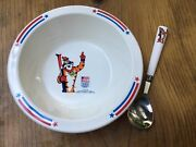 Kellogg's 1992 Tony The Tiger Commemorative Olympic Cereal Bowl And Spoon
