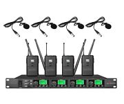 Wireless Lavalier Microphone System With Professional Vocal Microphone Karaoke
