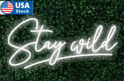 17 Stay Wild Neon Signs Grass Wall Decor Real Glass Neon Sign Shipping In Us