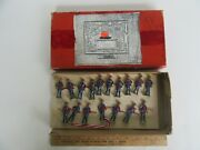 Antique Fabrique French Lead Toy Soldiers Imperial Charging Japanese W/ Box