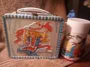 Vintage Junior Miss Metal Lunchbox And Thermos 1973 Retro Collectible