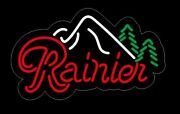 17andrdquo Rainier Beer Bar Neon Signs Bar Cub Decor Real Glass Sign Shipping From Us