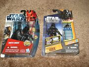Star Wars Lot Of 2darth Vader Movie Heroes And Galactic Battle-game-card