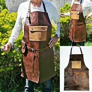 Leather 102 Apron Butcher Bbq, Grill, Kitchen, Woodwork, Barber Welding Brown