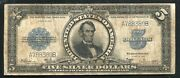 Fr. 282 1923 5 Five Dollars Andldquoportholeandrdquo Silver Certificate Currency Note Vf