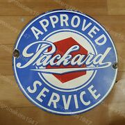Packard Service Porcelain Enamel Sign 12 Inches Round