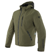 Motorcycle Jacket Dainese Mayfair D-dry Military Green 46 Grape-leaf 70c
