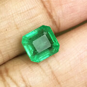 3.2cts Top Quality Natural Green Emerald Minor Oil Loose Gemstone