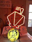 Rare Authentic Collectable Coors Red Light Neon Man Cave Bar Sign