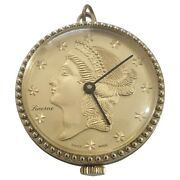 Lucerne Pendant Dollar Sign On Dial Watch - Swiss Made