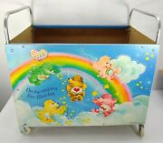 Vintage Care Bears Toy Cart Toy Box With Wheelsandnbspamerican Toy Furniture Company
