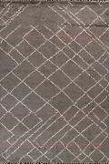Thick-plush Trellis Moroccan Berber Oriental Area Rug Wool Hand-knotted 8x11 Ft
