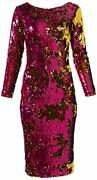 Dress The Population Womenand039s Emery Long Sleeve Str - Choose Sz/color