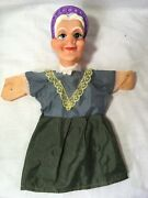 Punch And Judy Old Lady Hand Puppet Rare Vintage Fast Uk Dispatch