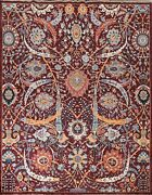 Vegetable Dye Floral Ziegler Oriental Area Rug Hand-knotted Wool Carpet 8x10 Ft