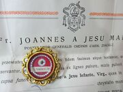 ✝ Reliquary Relic St. Therese Of Lisieux + Document Therese Of The Child Jesus