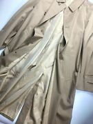Gianni Versace Couture Vintage '97 Trench Coat Men Wool Khaki Camel Beige Italy