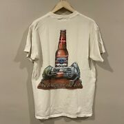 Vintage Budweiser This Bud's For You Swamp Beer Gator Frog T-shirt Adult Size Xl