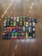 Dc Comics Hot Wheels Character Cars Lot Of 40 Plus Loose Cars Adult Owned