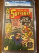 Tales Of Suspense 48 12/63 Cgc 8.5 Ow First Mister Doll Nice Early Iron Man Key