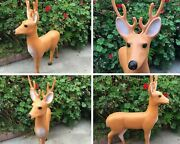 Vintage Reindeer 35 Xmas Blow Mold Union Products Holiday Yard Home Decor 1989