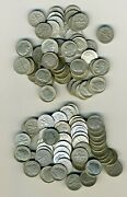 2 Rolls 100 Silver Roosevelt Dimes 1964 Or Prior. Avg. Circulated 10 Face