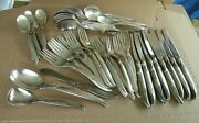 Vintage 1847 Rogers Bros Silver Plated Is Flair 61 Piece Lot Set Flatware