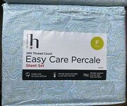 290 Thread Count Easy Care Percale Full Sheet Set 60 Cotton 40 Polyester Jcp
