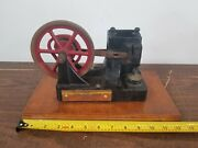 Vintage Antique Cast Iron Toy Vacuum Rotor Steam Engine Fire Licker Eater