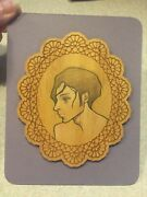 Audrey Kawasaki Signed Original Drawing On Wood 1/1 Baby Tattooville Event 2009