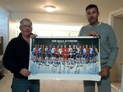 1 - Large Collectable Poster Of The 500 Goal Scorers Only 1 Missing Gretzky
