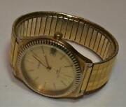 Vtg Timex Water Resistant Hand Wind Date Menandrsquos Gold Color Wrist Watch Runs
