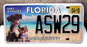 Florida Animal Friend Spay And Neuter License Plate Dog Cat Pet Asw29