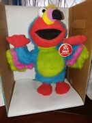 Elmo Dressed Like A Chicken And Plays Chicken Dance Song And Dances Around.